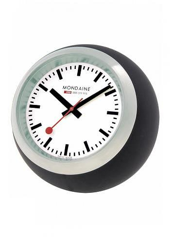 A660.30335.16SBB, Mondaine, Desktop Clock Globe 60mm, White Dial, Black