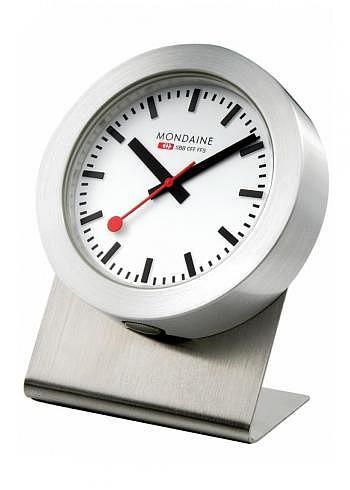 A660.30318.81SBB, Mondaine, Tischuhr Magnet Clock 50mm, Weisses Zifferblatt, Aluminium