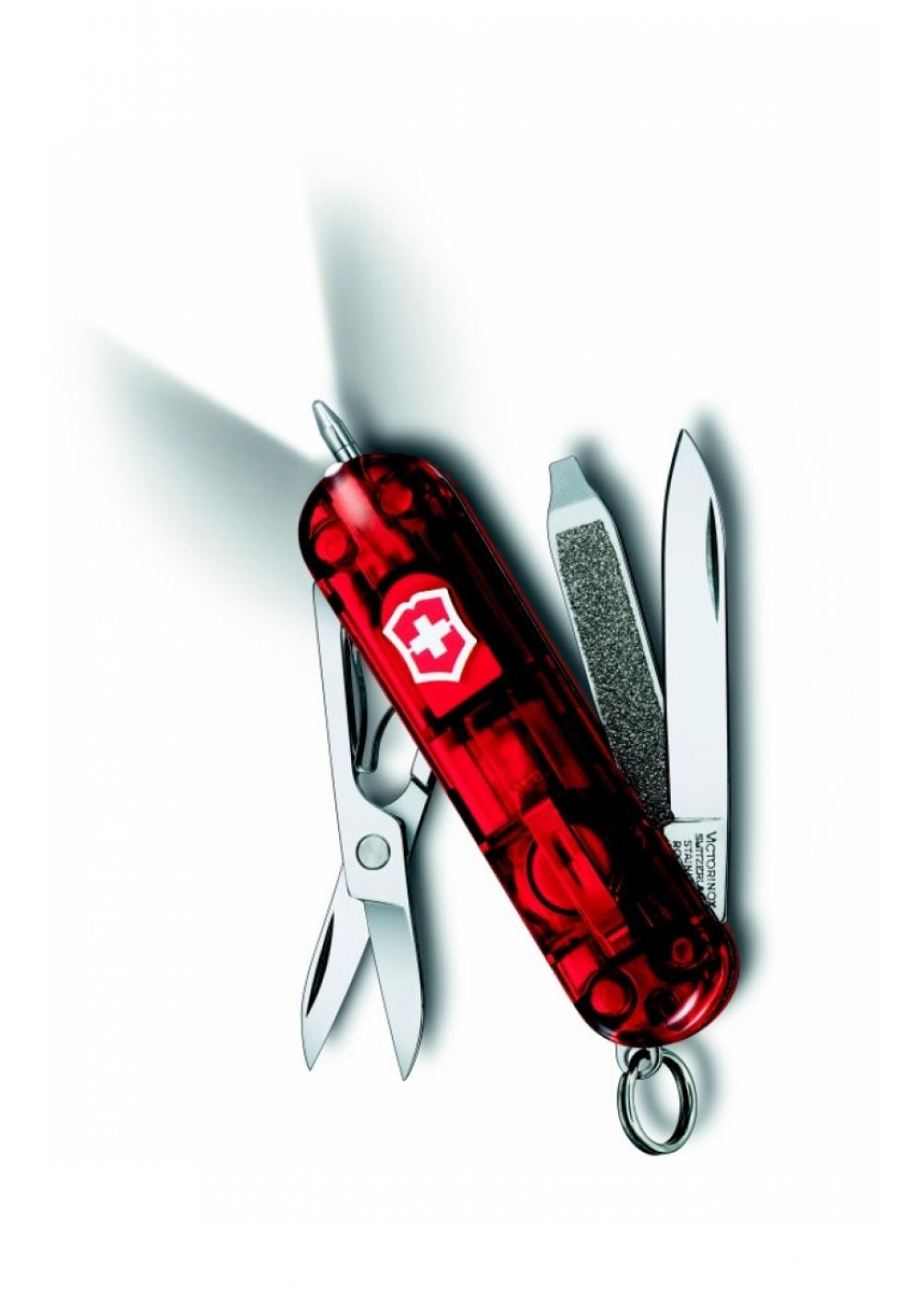 Victorinox, Signature Lite Rubin, Red Translucent, 58mm