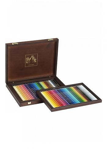 3002.460, Caran d'Ache, 60 pencils, wood box
