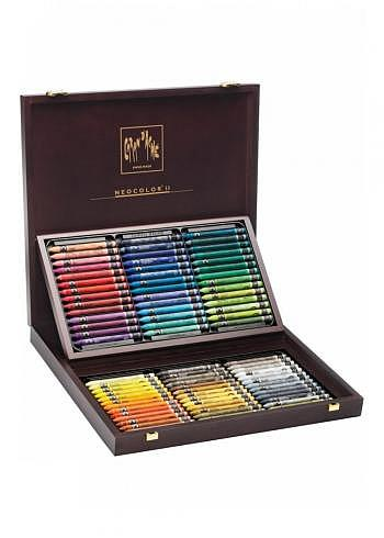 7500.484, Caran d'Ache, 84 finest water soluble wax pastels, wood box