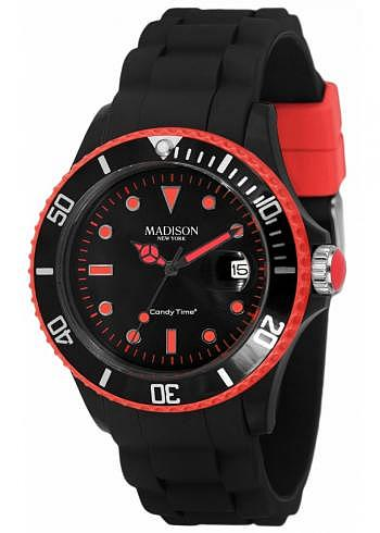 U4485-45, Candy Time, Black Line, Red