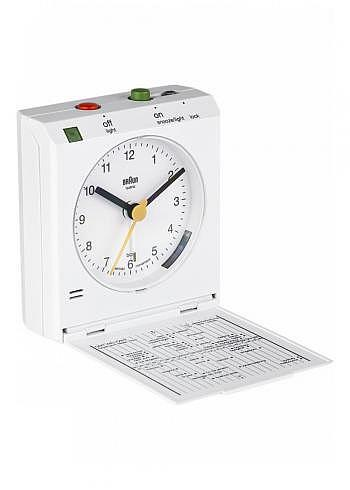 BNC005, Braun, Alarm Clock with Move Control, White