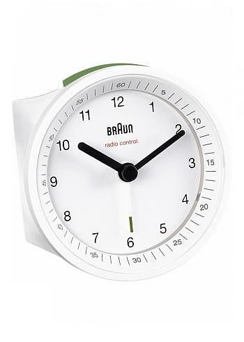 BNC007, Braun, Alarm Clock with Radio Control, White