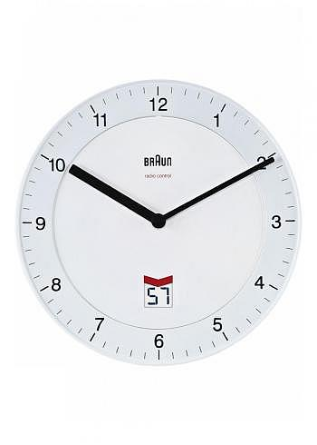 BNC006, Braun, Wall Clock with Radio Control, White
