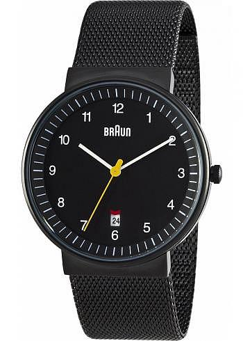 BN0032, Braun, Classic PVD 40mm, Black Dial, Stainless Steel Bracelet