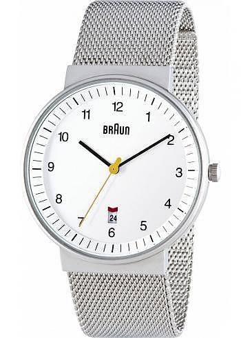 BN0032, Braun, Classic 40mm, White Dial, Stainless Steel Bracelet
