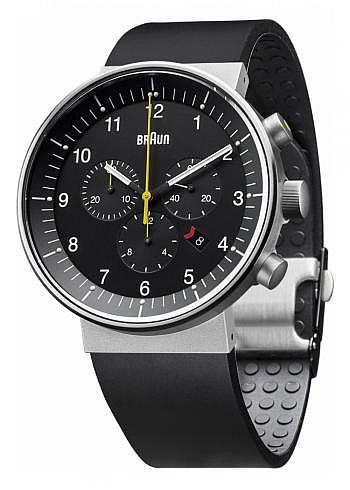 BN0095, Braun, Prestige Chrono 43mm, Black Dial, Rubber Strap