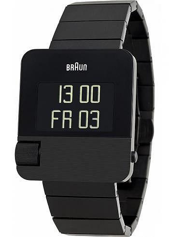 BN0106, Braun, Prestige PVD 42x37mm, Black, Stainless Steel Bracelet