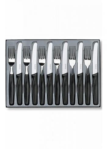 5.1333.12, Victorinox, Tableware, 12 Pieces, Black