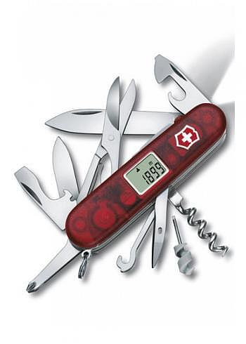 1.7905.AVT, Victorinox, Traveller Lite, Rot Transparent, 91mm