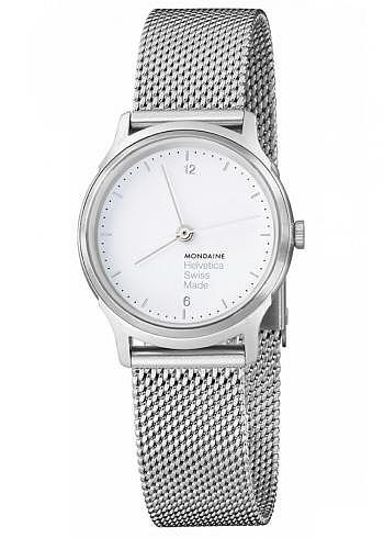 MH1.L1110.SM, Mondaine, Helvetica No1 Light 26mm, White Dial, Stainless Steel Bracelet