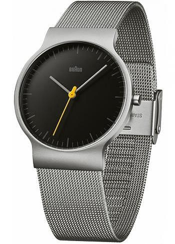 BN0211, Braun, Classic 38mm, Black Dial, Stainless Steel Bracelet_1
