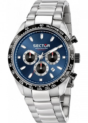 R3253581005, Sector, Racing 950 Chrono 43mm, Black Dial, Steel Bracelet
