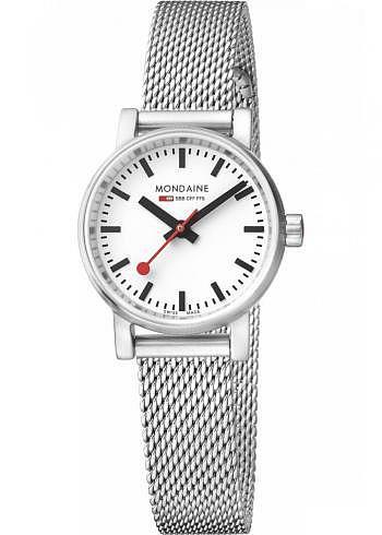 MSE.26110.SM, Mondaine, EVO2 Petite 26mm, White Dial, Stainless Steel Bracelet