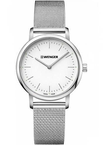 01.1721.111, Wenger, Urban Classic Lady 35mm, White Dial, Stainless Steel Bracelet