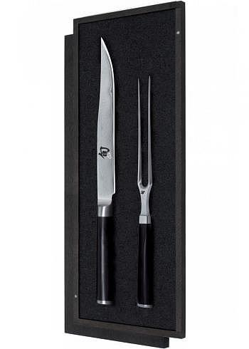 DMS-200, KAI SHUN, Damask Steel 32 Layers, Carving Set
