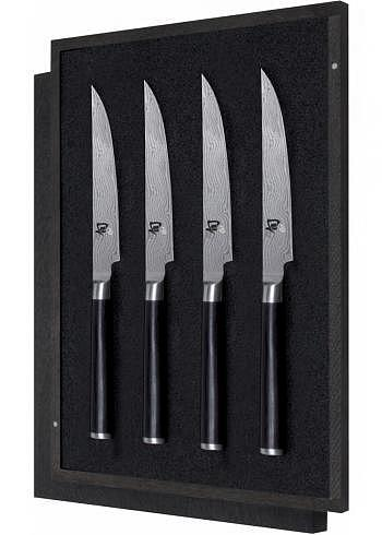 DMS-400, KAI SHUN, Damask Steel 32 Layers, Steak Knife Set