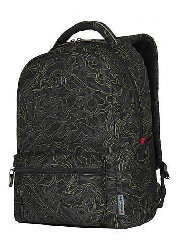 606466, Wenger, School & Travel Backpack, Colleague Black Fern, 22 Liter
