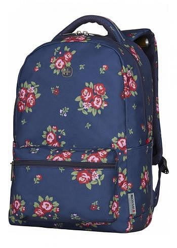 606469, Wenger, School & Travel Backpack, Colleague Navy Floral, 22 Liter