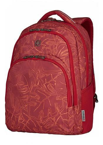 606472, Wenger, School & Travel Backpack, Upload Red Outline, 28 Liter