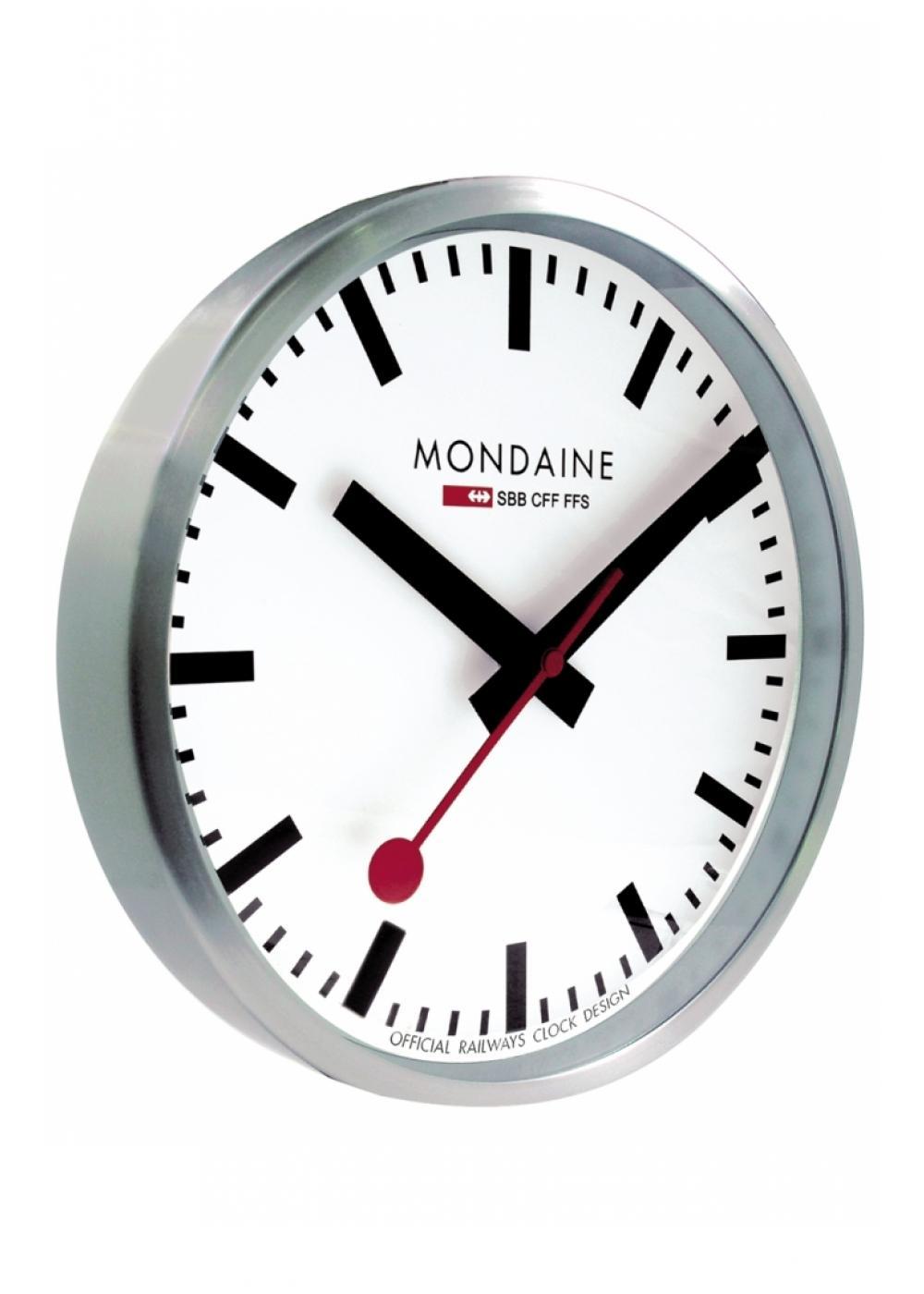 A990 Clock 16sbb Mondaine Wall Clock 250mm Alarm
