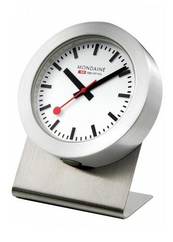 A660.30318.81SBB, Mondaine, Desktop Clock Magnet Clock 50mm, White Dial, Aluminium