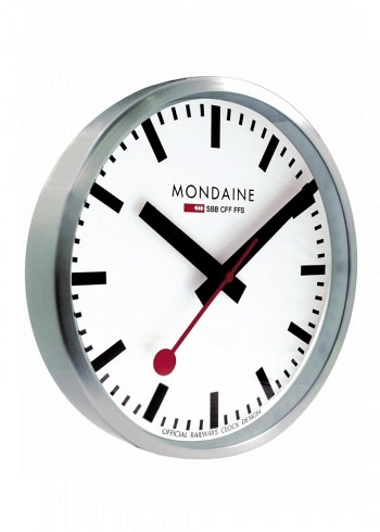 A995.CLOCK.16SBB, Mondaine, Wall Clock 400mm