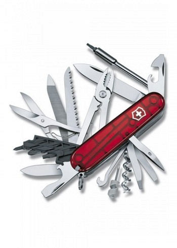 1.7775.T, Victorinox, CyberTool 41, Red Translucent, 91mm