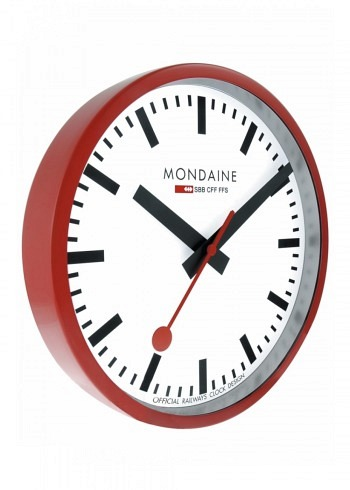 A990 mondaine wall clock 250mm official swiss railways watch loosli swiss memories - Swiss railway wall clock ...