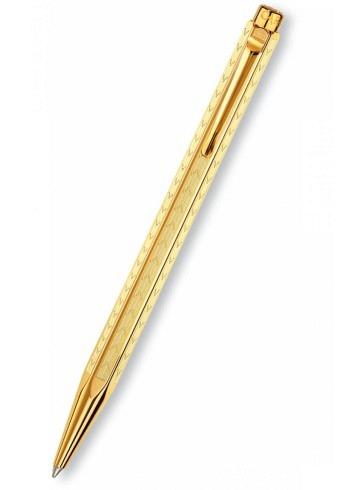 """898.208, Ballpoint Pen, Collection Ecridor, """"Chevron"""", gold"""