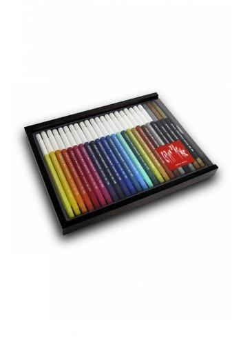 185.824, Caran d'Ache, Wood Box, 24 Fibre-Tip Pens