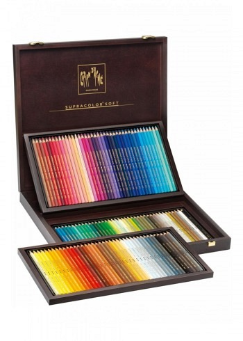 "3888.920, Caran d'Ache, 120 water soluble pencils ""Supracolor"", wood box"