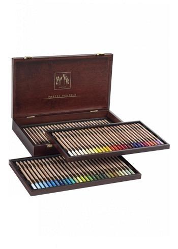 """788.484, Caran d'Ache, 84 pencils """"Pastel"""", wood box"""