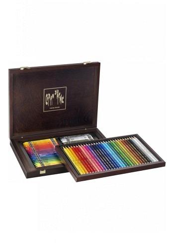 3002.470, Caran d'Ache, 70 pencils, wood box