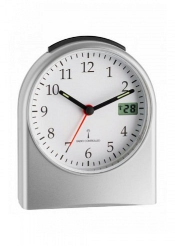 5269782, TFA, Radio Controlled Alarm Clock 150x120mm, Silver