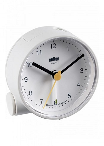 BNC001, Braun, Alarm Clock, White