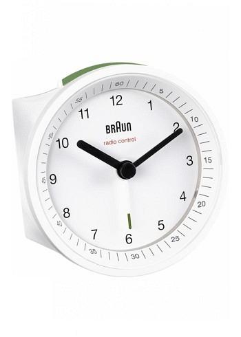 BNC007, Braun, Alarm Clock with Radio Control, White