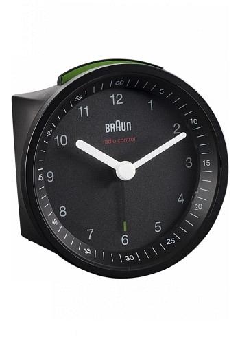 BNC007, Braun, Alarm Clock with Radio Control, Black