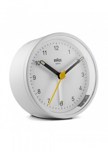 BNC012, Braun, Alarm Clock, White