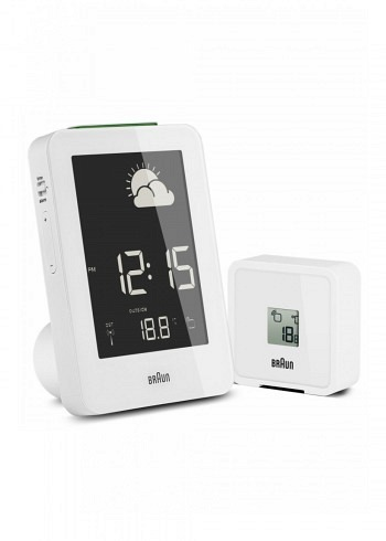 BNC013, Braun, Digital Weather Station with Radio Control, White