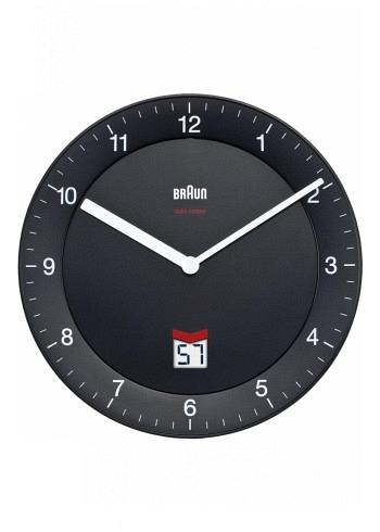 BNC006, Braun, Wall Clock with Radio Control, Black