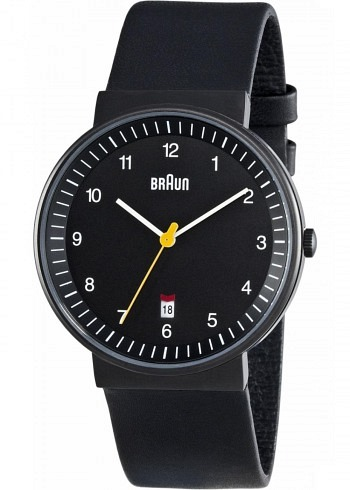 BN0032, Braun, Classic PVD 40mm, Black Dial, Leather Strap