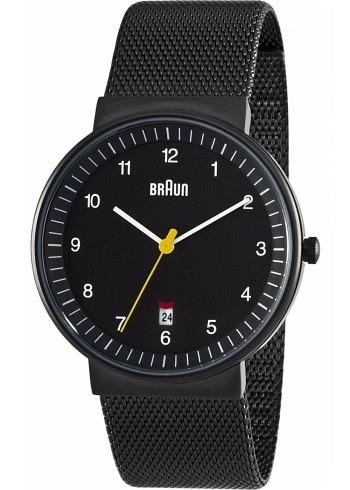 BN0032, Braun, Classic PVD 40mm, Black Dial, Stainless Steel Bracelet