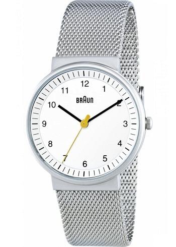 BN0031, Braun, Classic 33mm, Ladies, White Dial, Stainless Steel Bracelet