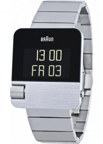 BN0106, Braun, Prestige 42x37mm, Silver, Stainless Steel Bracelet