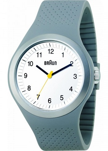 BN0111, Braun, Sport 46mm, White Dial, Grey Case