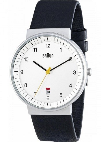 BN0032, Braun, Classic 40mm, White Dial, Leather Strap