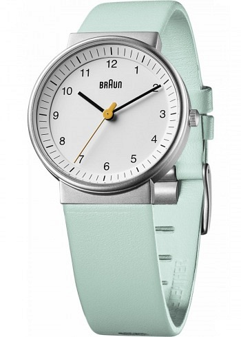 BN0031, Braun, Classic 33mm, Ladies, White Dial, Leather Strap Turquoise