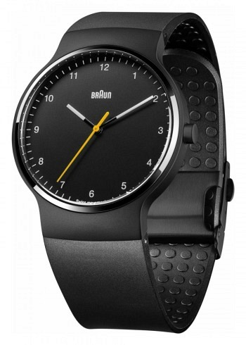 BN0221, Braun, Prestige PVD 40mm, Black Dial, Rubber Strap